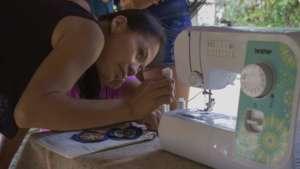 Improving the sewing mashine technique