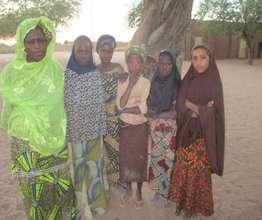 Assalama with her mentored girls.
