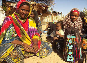 Mariama Mowli (at right) with her mentor Asha.