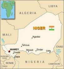 Map of Niger, West Africa