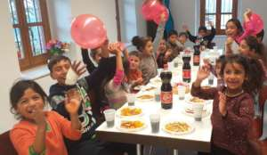 Birthday parties at the soup kitchen!