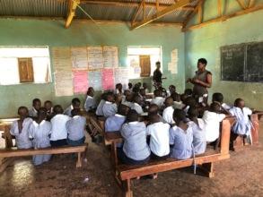 A primary four classroom