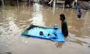 Disaster Relief during heavy floods in Pakistan