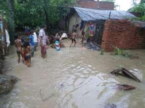 flood hit villagers