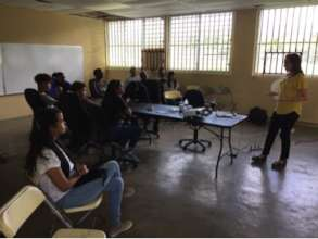 Professional development workshop with residents