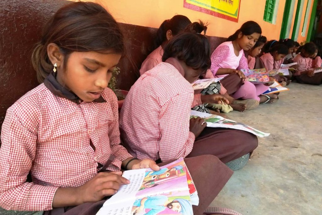 Give Joy of Reading in 5 Schools in India