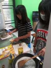 cooking own breakfast