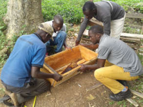 Beehive making in the community
