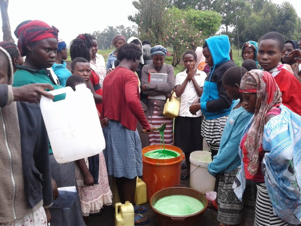 Safe water springs for 3118 people in Ruteete