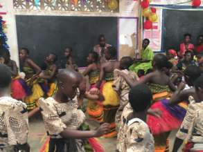 Our girls dancing during the holiday celebration