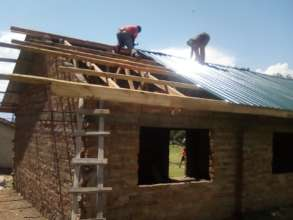Roofing of the third classroom
