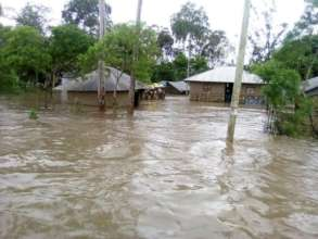 Most Houses were Submerged by the flooding Waters