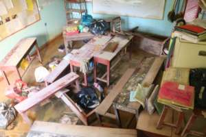 classrooms damaged by food waters