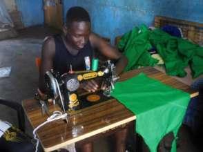 Adama sewing school uniforms