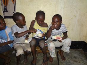 ACFA Children enjoying snack