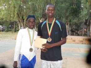 Diakassan receiving silver medal