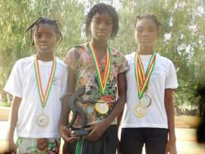 Children with their medals
