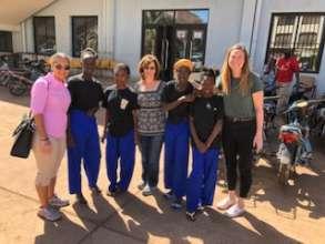 ACFA Board members meet children in Mali