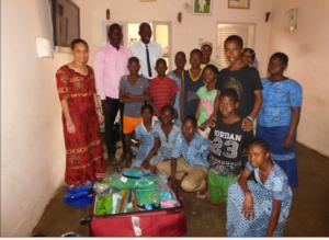 Group photo with children and staff