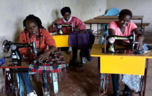 Tailoring trainees at work