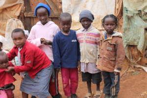 Children Outside their house