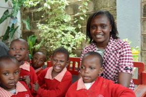 Teacher Alice and Her Nursery School Children