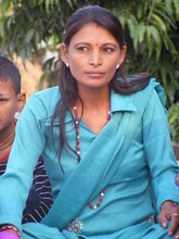 A HIV-positive woman at the Women's Training Center in Kailali.