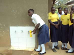 Students benefiting from their new water system