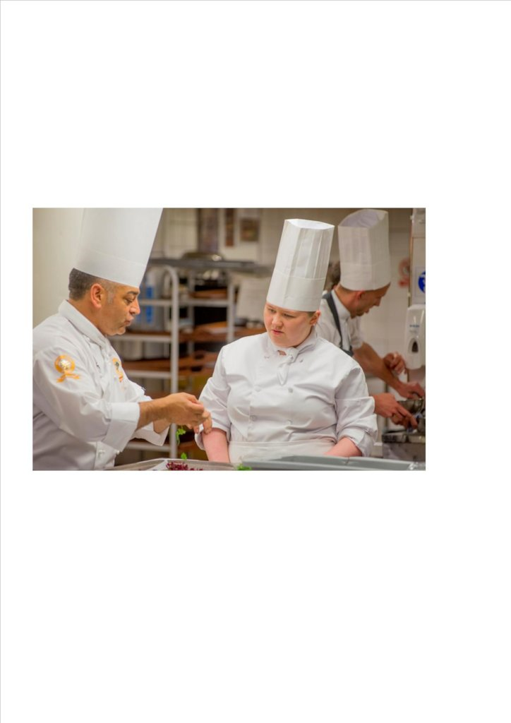 Team with disabilities in the Culinary Olympics