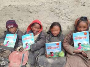 """Children studying outside during """"warm"""" winter day"""