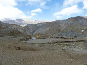 The surrounding of the school in Saldang