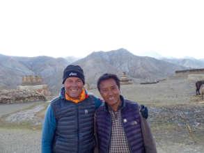 Together with school coordinator Lama Pema Wangyal