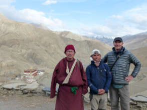Walk to the village with Lama Karma Dhondup