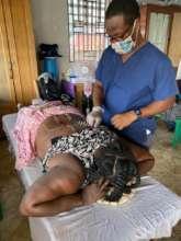 Nicholson using needles to reduce pain