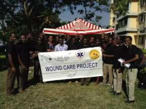 The launching ceremony of Wound Care Tent in 2015