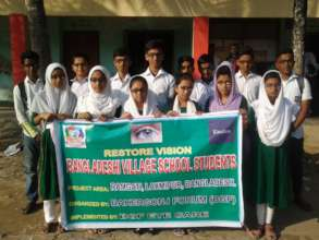 Studens of Charshita High School with spectacles