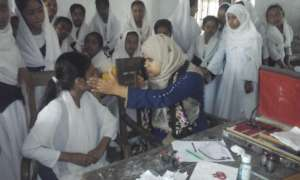 Vision testing of Village Students in Bangladesh