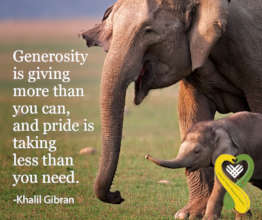 Generosity is Giving More than You Can!