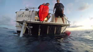 ODA-Hawai'i crew dive to remove ghost gear (FAD)