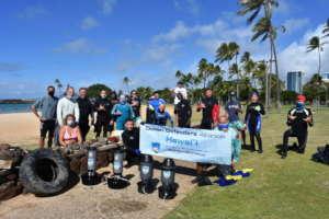 Magic Island gets cleaned of debris by ODA-HI!