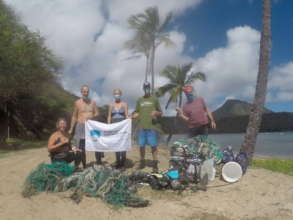 Nets & all kinds of trash removed by ODA-HI