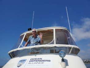 Captain Kurt Lieber on the bridge of the LegaSea