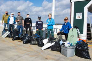 We clean beaches as well as diving from boats!