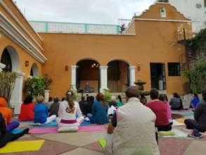 Group yoga classes