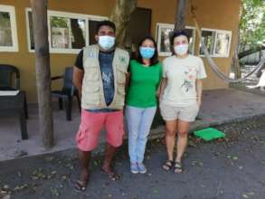 ARCAS and CONAP staff with facemasks