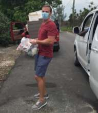 Lend a Hand Bahamas Making Deliveries in Gambier