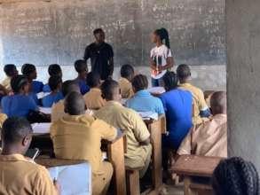 Open Dreams Scholars visiting a school