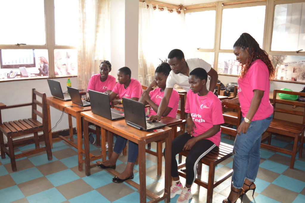 Digital literacy for 200 girls in Kampala slums.