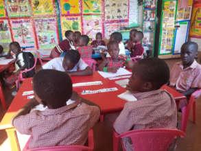Enjoying their new class.