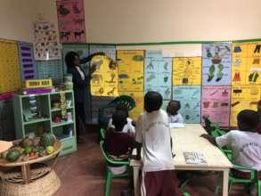 Middle class Kindergarten and teacher Gertrude